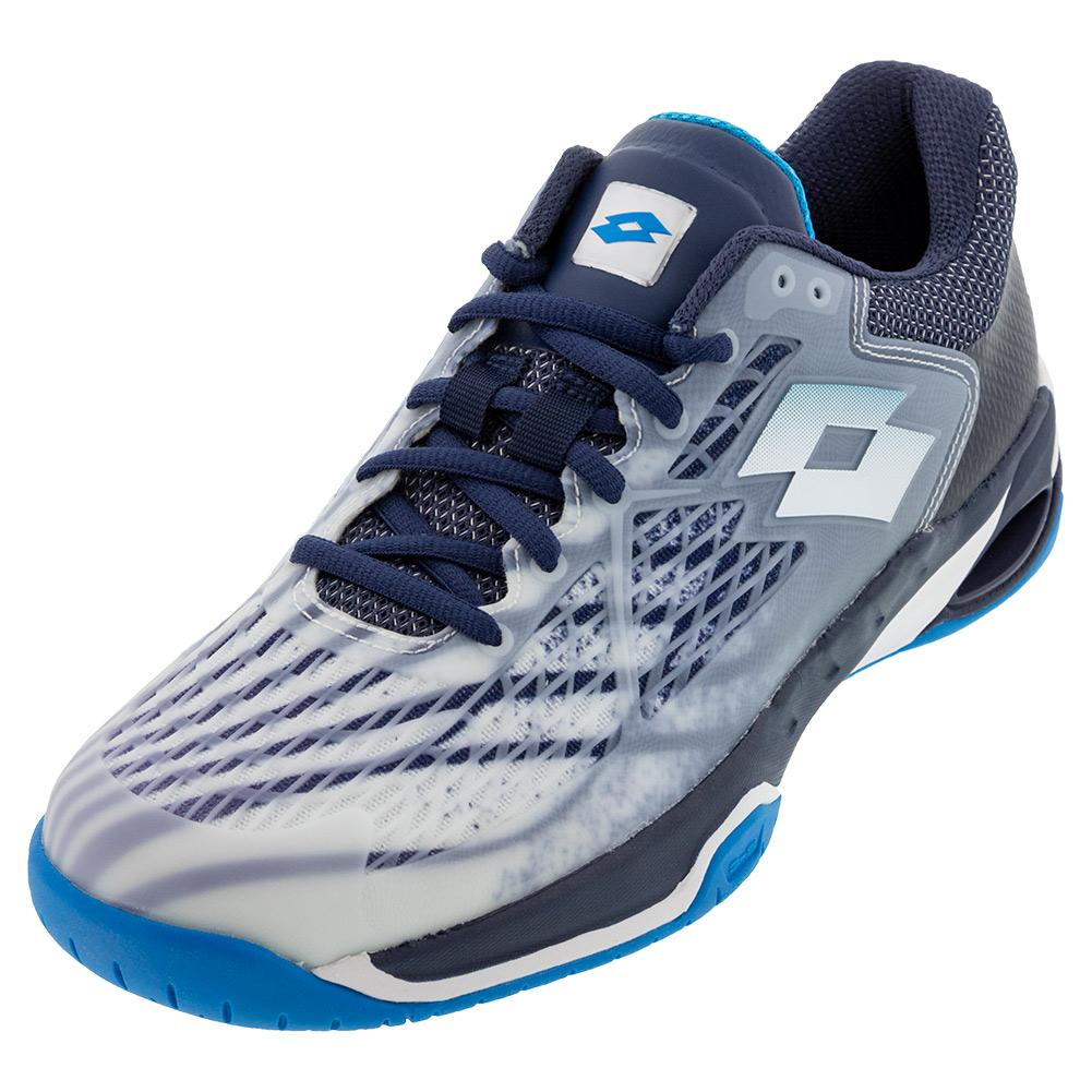 Men's Mirage 100 Speed Tennis Shoes All White And Diva Blue