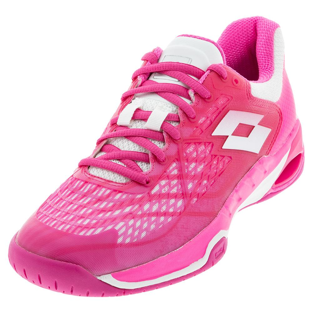 Women's Mirage 100 Speed Tennis Shoes Glamour Pink And All White