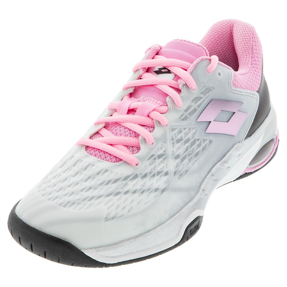 Women's Mirage 100 Speed Tennis Shoes All White And Pink 920c