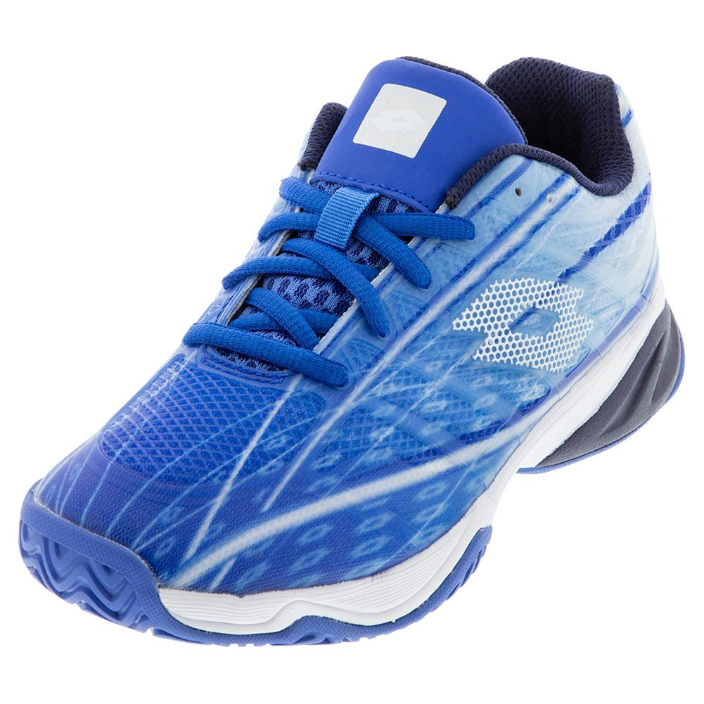 Juniors ` Mirage 300 Alr Tennis Shoes Nebulas Blue And All White