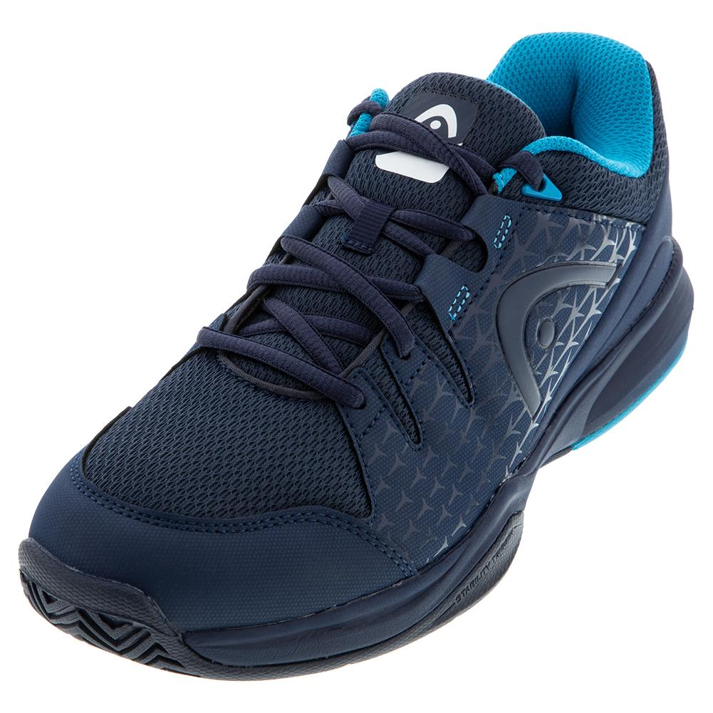 Men's Brazer Tennis Shoes Dark Blue And Blue