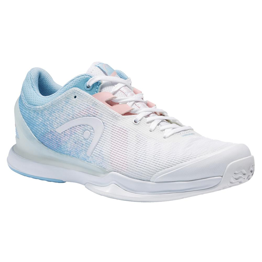 Women's Sprint Pro 3.0 Tennis Shoes White And Light Blue