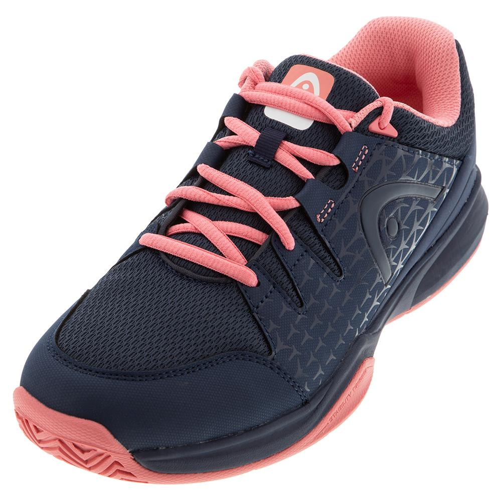 Women's Brazer Tennis Shoes Dark Blue And Pink