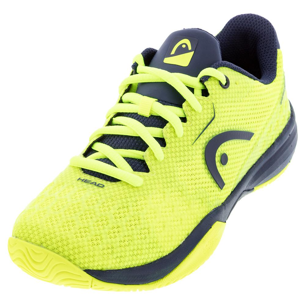 Juniors ` Revolt Pro 3.0 Tennis Shoes Dark Blue And Neon Yellow