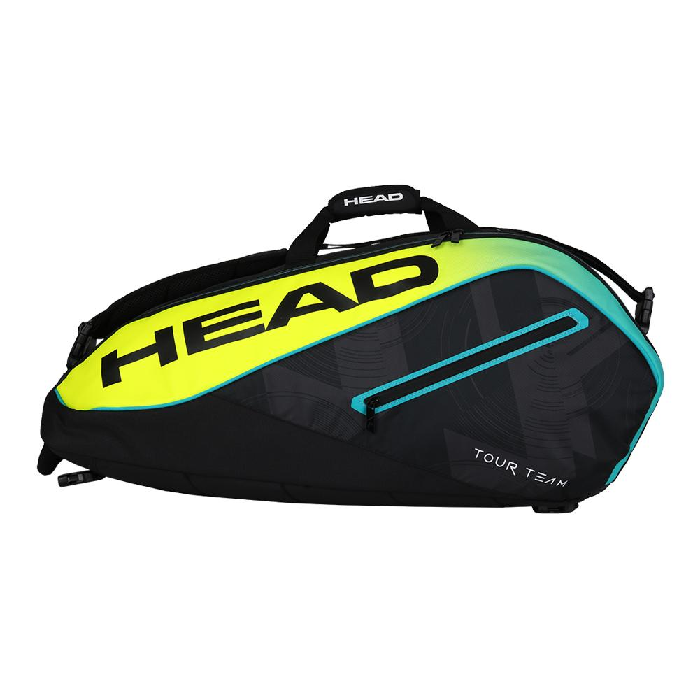 Extreme 9r Supercombi Tennis Bag Black And Yellow
