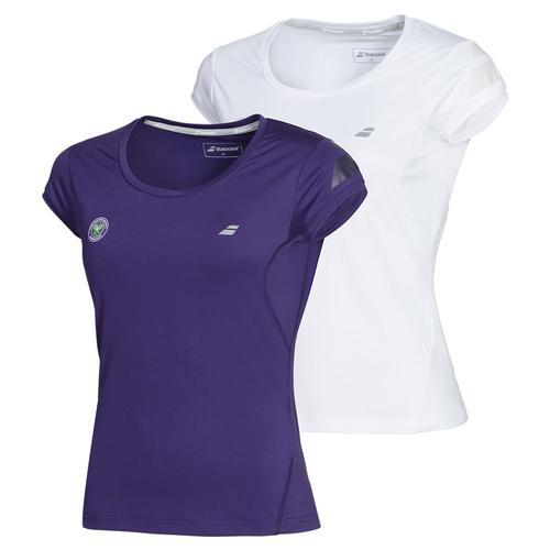 Women's Wimbledon Cap Sleeve Tennis Top
