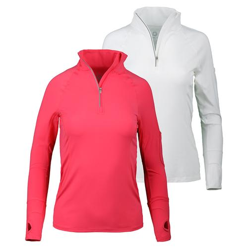 Women's Mock Zip Tennis Top
