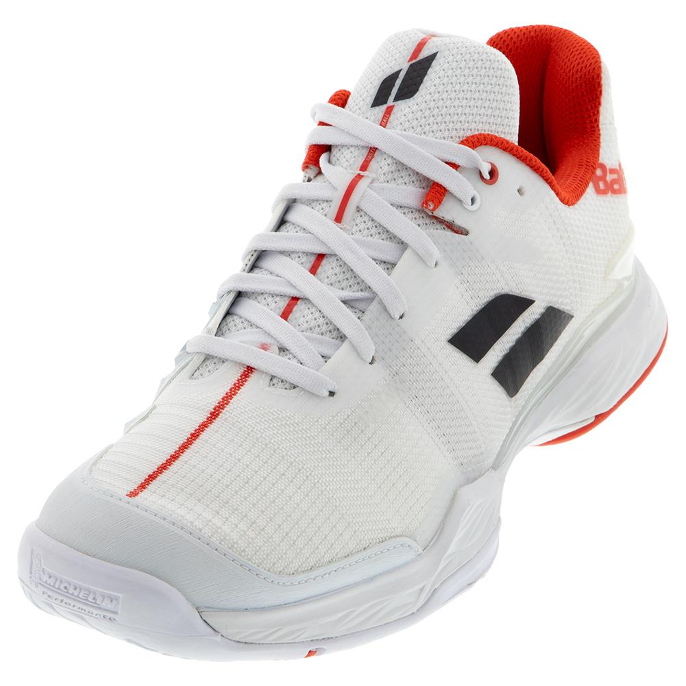 Men's Jet Mach Ii All Court Tennis Shoes White And Red