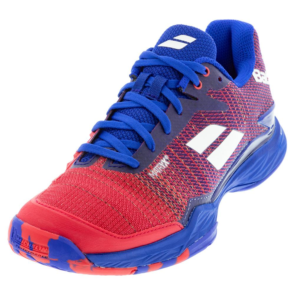 Men's Jet Mach Ii All Court Tennis Shoes Poppy Red And Estate Blue