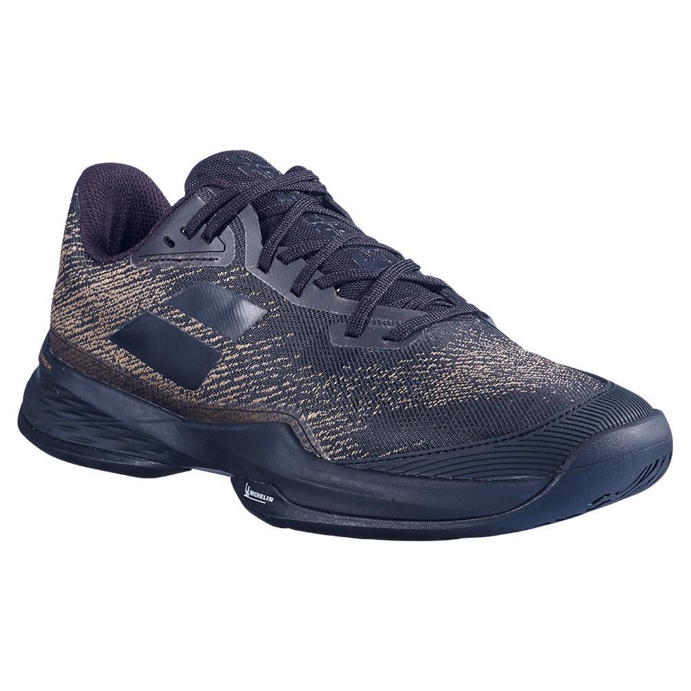 Men's Jet Mach 3 All Court Wide Tennis Shoes Black Gold