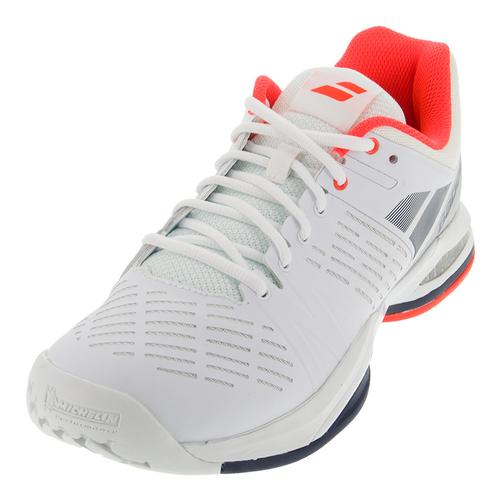 Men's Propulse Team All Court Tennis Shoes White And Blue