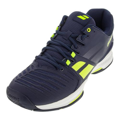 Men's Sfx All Court Tennis Shoes Blue And Yellow