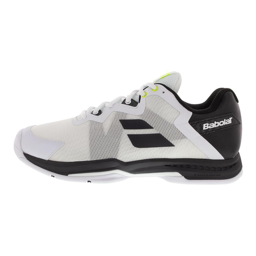official photos fbb59 cfde2 Description  Customer Reviews  Tennis Express Reviews  Weights.  Description. Babolat Men`s SFX 3 All Court Tennis Shoes ...