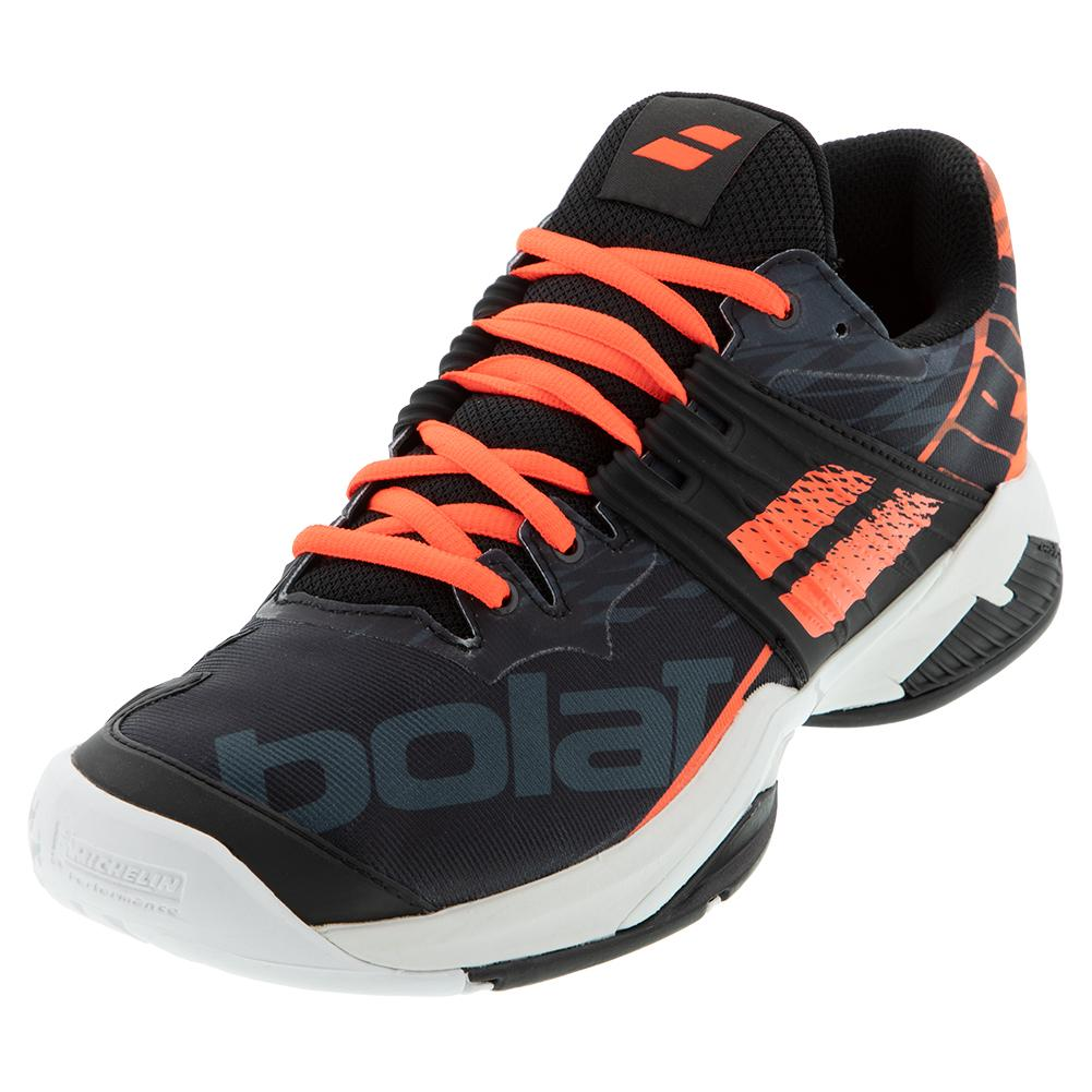 Men's Propulse Fury All Court Tennis Shoes Black And Fluo Strike