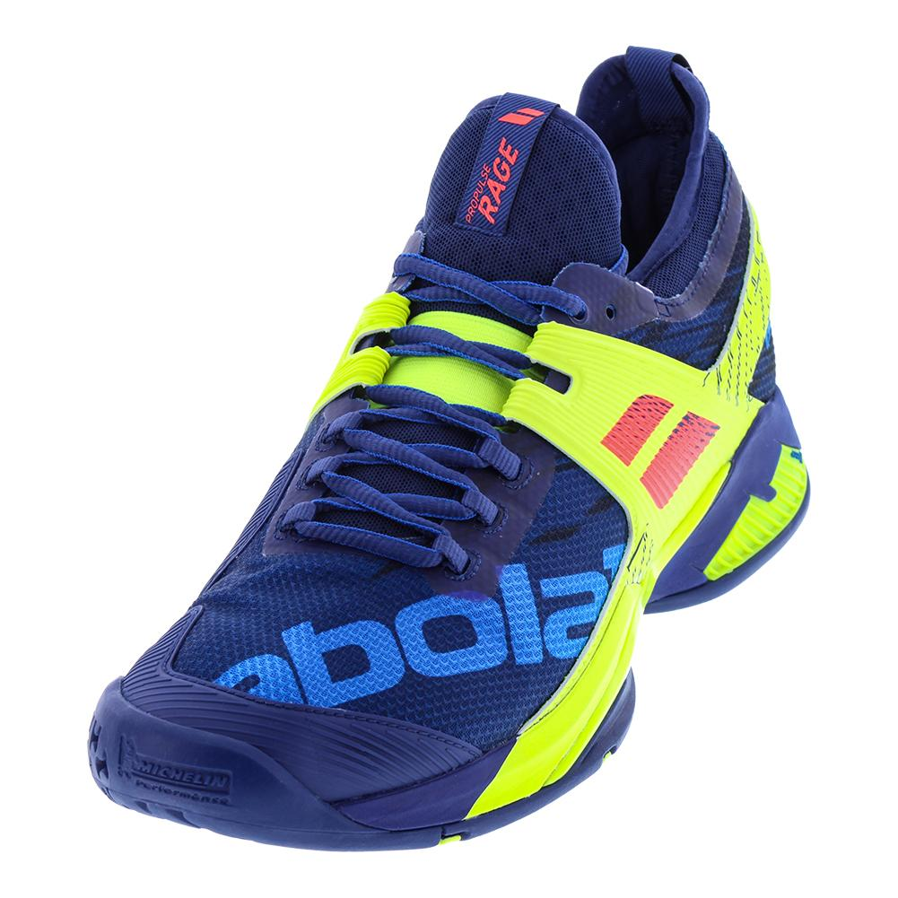 Men's Propulse Rage All Court Tennis Shoes Blue And Fluo Aero