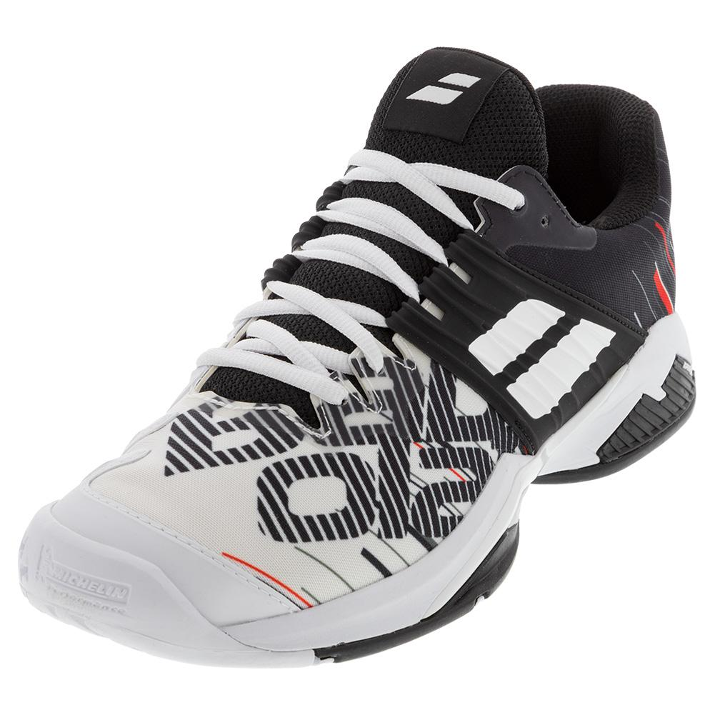 Men's Propulse Fury All Court Tennis Shoes White And Black