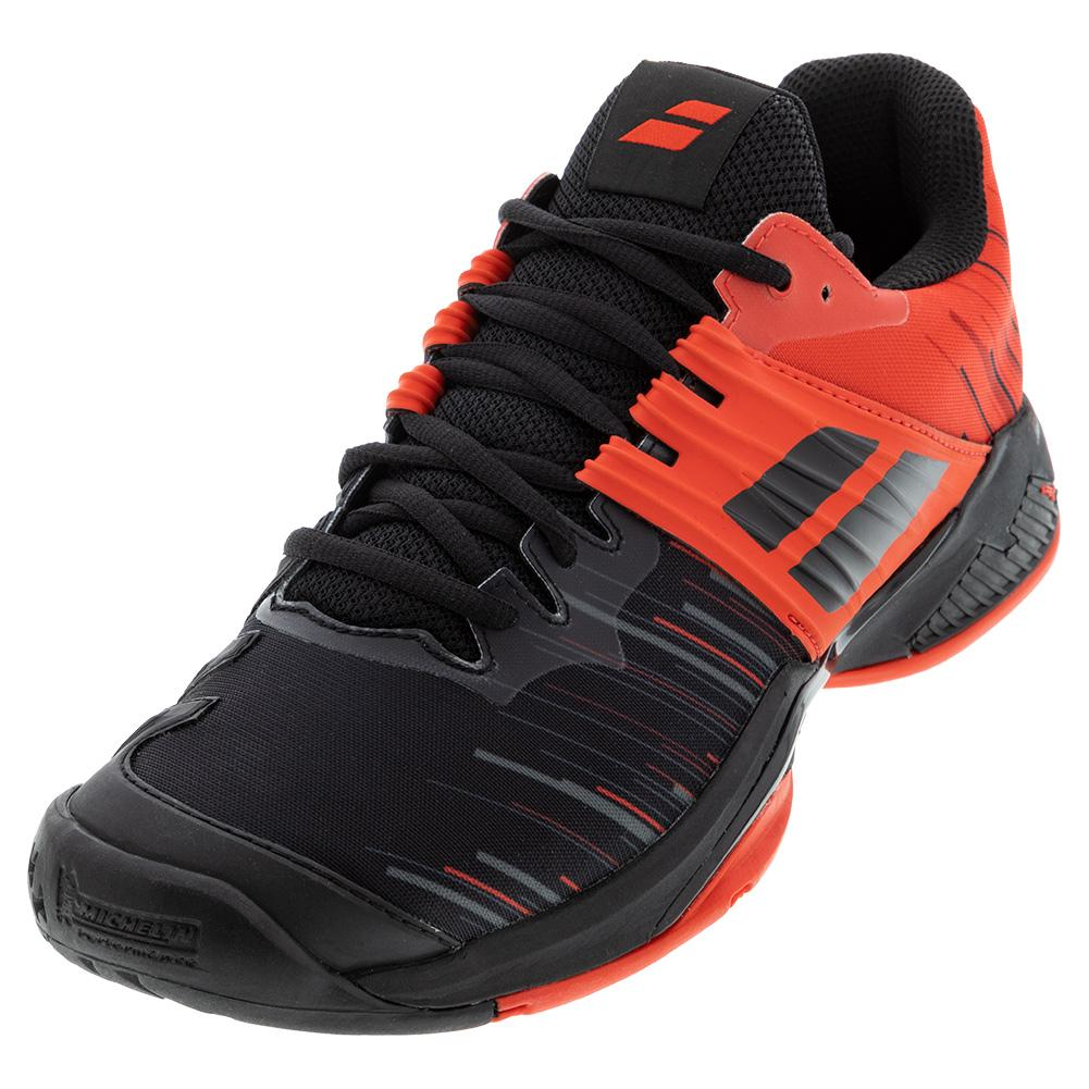 Men's Propulse Fury All Court Tennis Shoes Black And Tomato Red