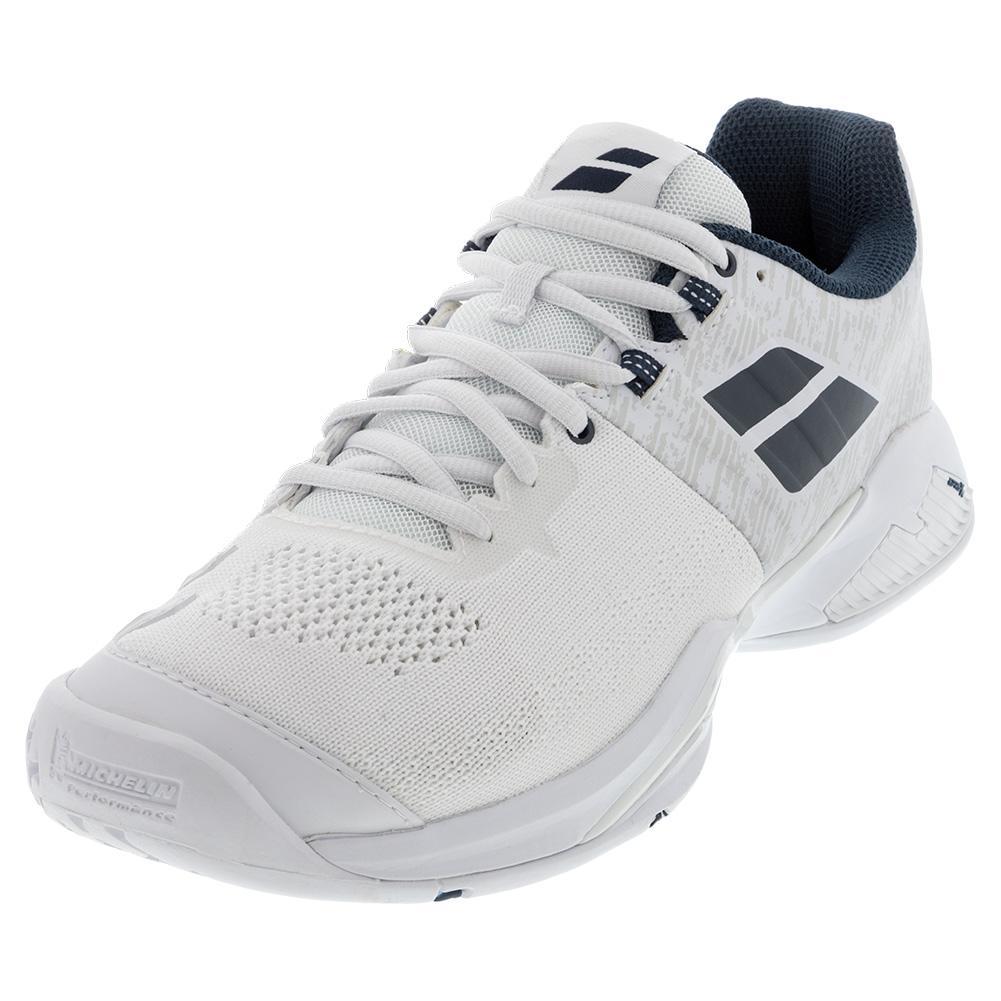 Men's Propulse Blast All Court Tennis Shoes White And Estate Blue