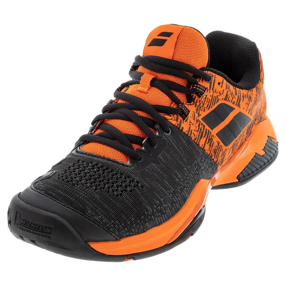Men's Propulse Blast All Court Tennis Shoes Black And Golden Poppy