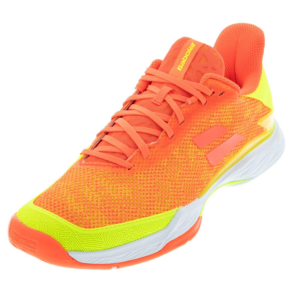 Men's Jet Tere All Court Tennis Shoes Fluo Strike And Fluo Yellow