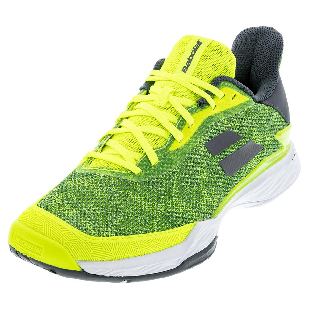 Men's Jet Tere All Court Tennis Shoes Fluo Yellow