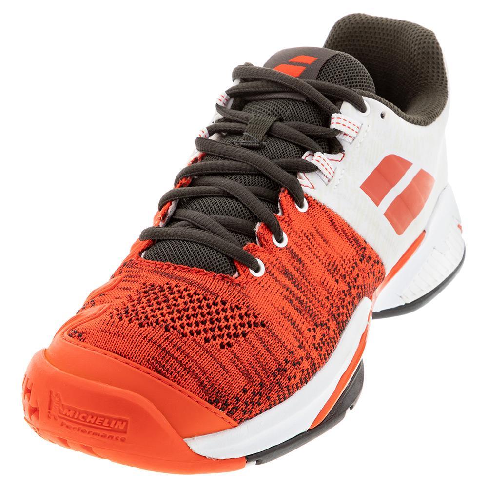 Men's Propulse Blast All Court Tennis Shoes Cherry Tomato And White