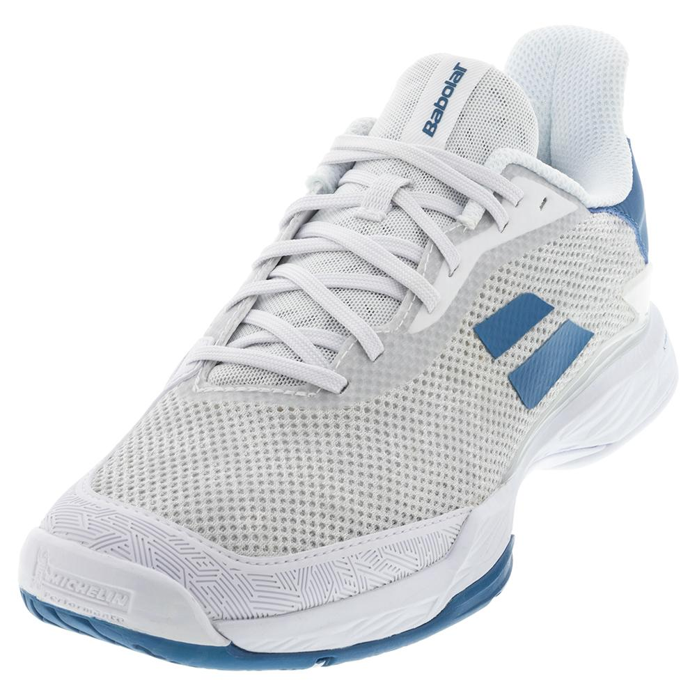 Men's Jet Tere All Court Tennis Shoes White And Saxony Blue