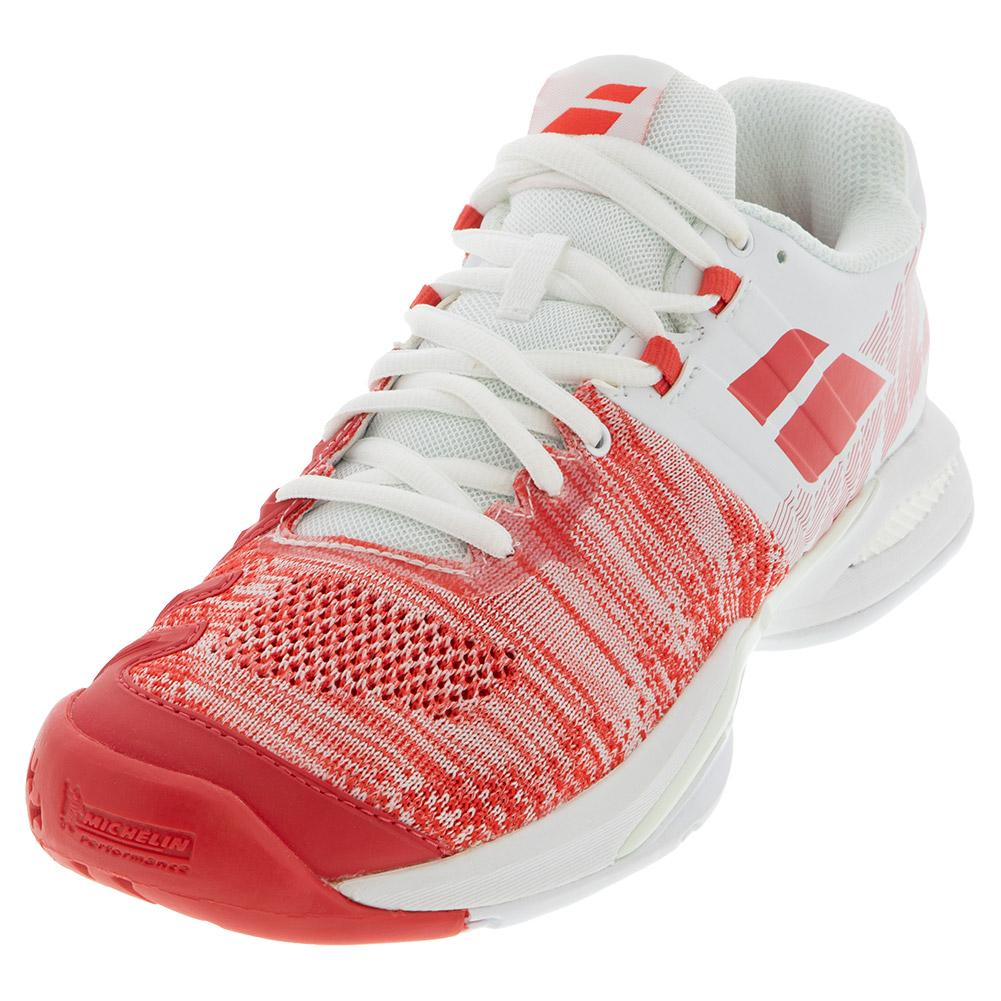 Women's Propulse Blast All Court Tennis Shoes White And Hibiscus