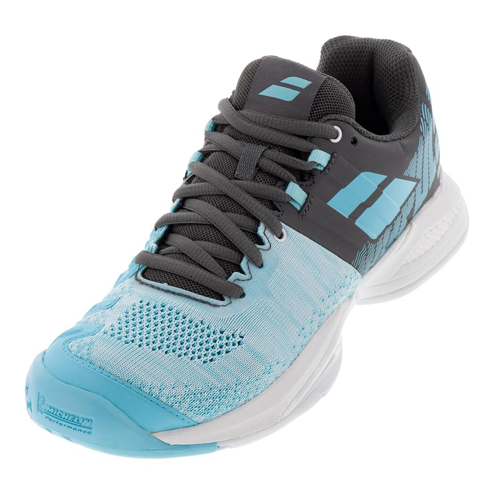 Women's Propulse Blast All Court Tennis Shoes Gray And Blue Radiance