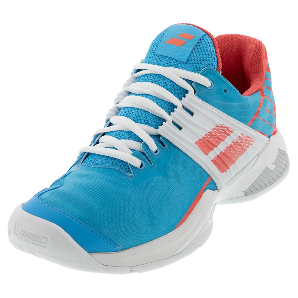 Women's Propulse Fury All Court Tennis Shoes Sky Blue And Pink