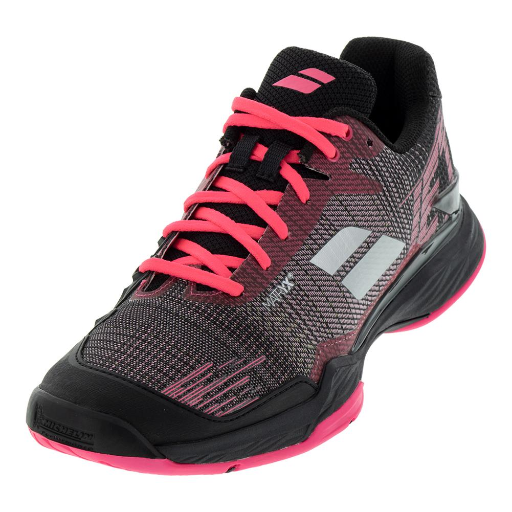 Women's Jet Mach Ii All Court Tennis Shoes Pink And Black