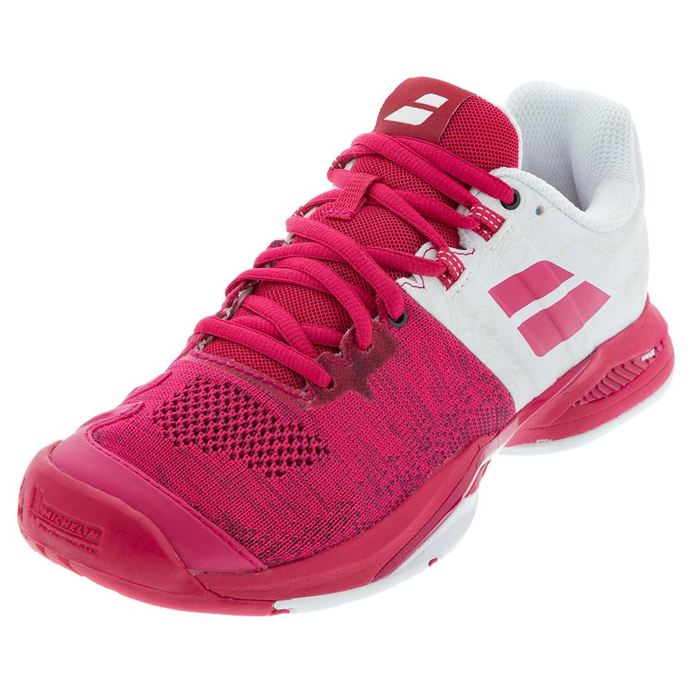 Women's Propulse Blast All Court Tennis Shoes White And Vivacious Red