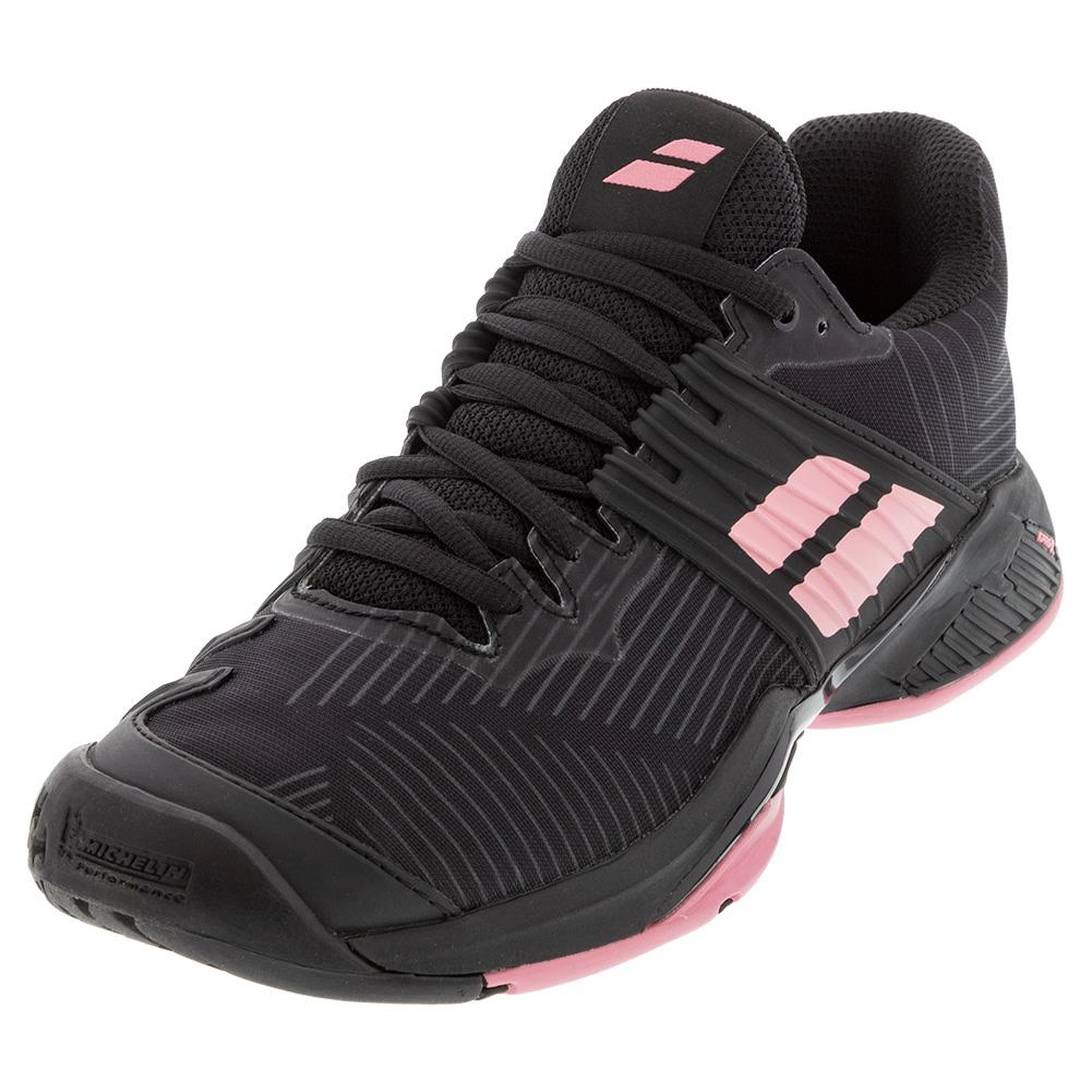 Women's Propulse Fury All Court Tennis Shoes Black And Geranium Pink