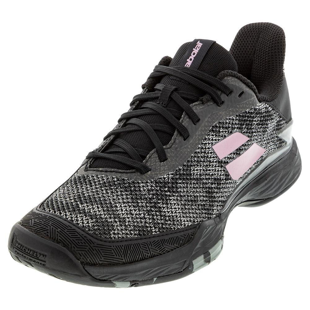 Women's Jet Tere All Court Tennis Shoes Black And Pink