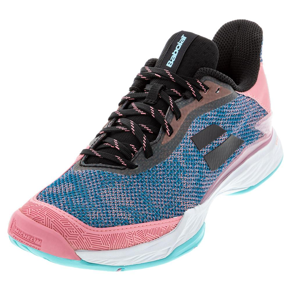 Women's Jet Tere All Court Tennis Shoes Blue And Pink