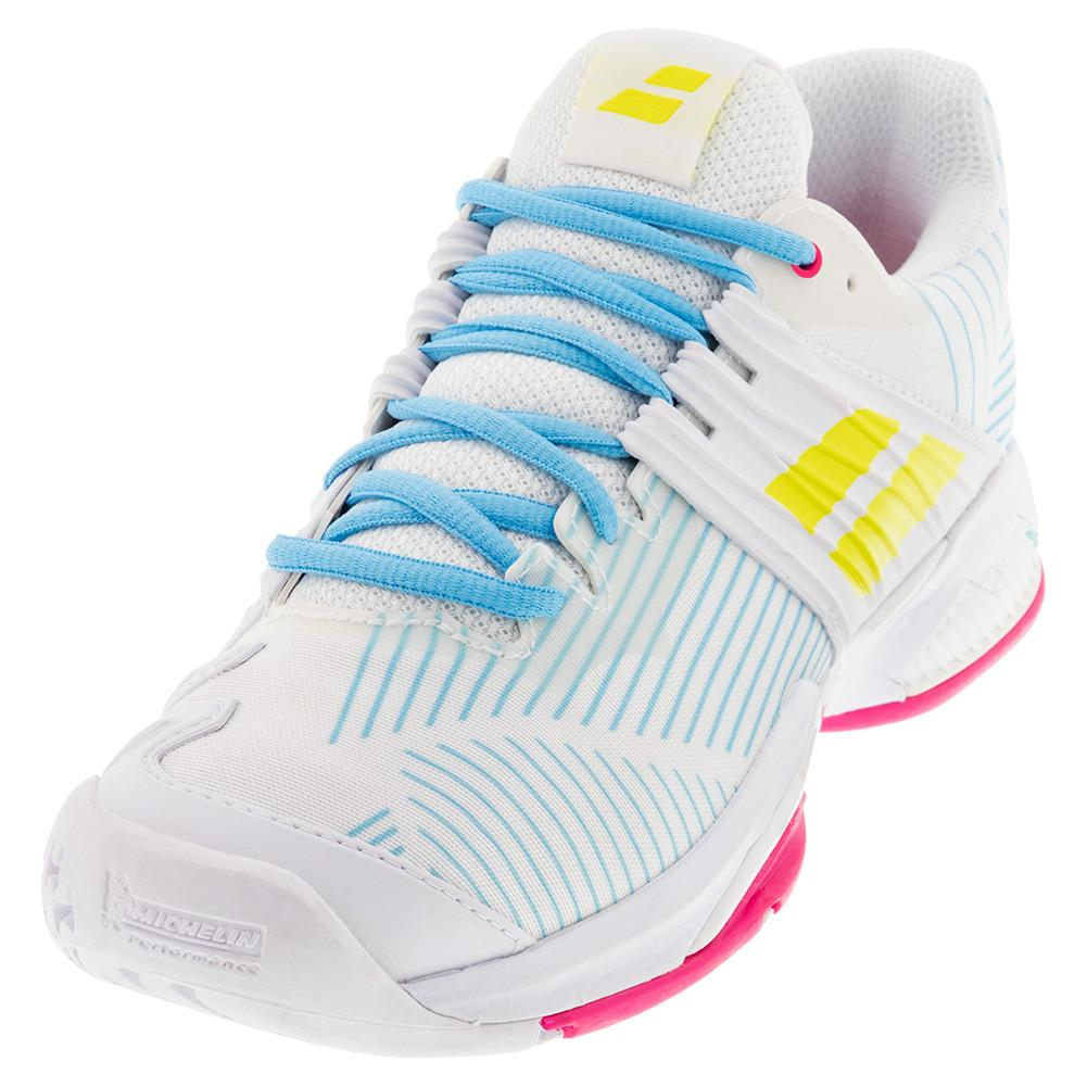 Women's Propulse Fury All Court Tennis Shoes White And Sulphur Spring