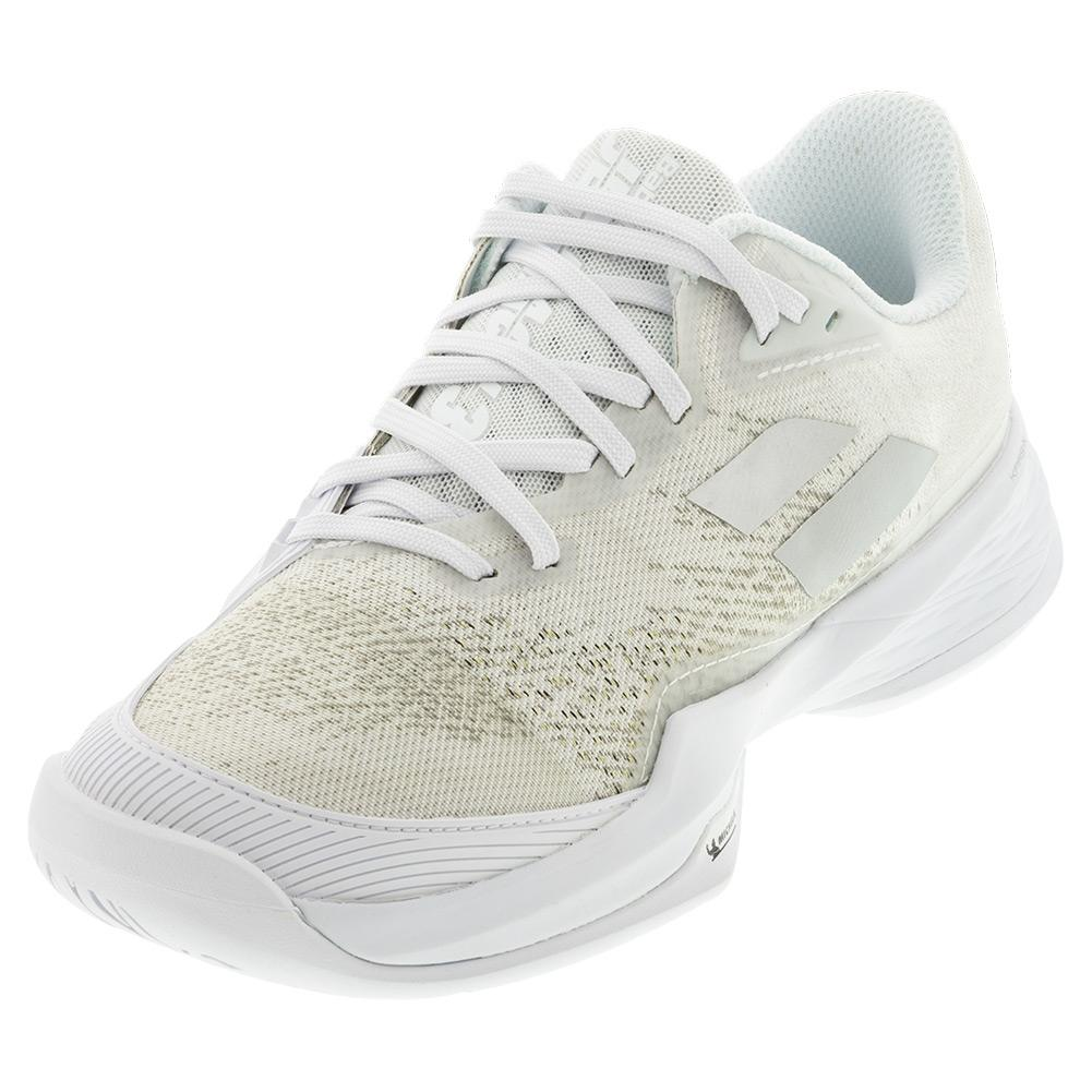 Women's Jet Mach 3 All Court Tennis Shoes White And Silver