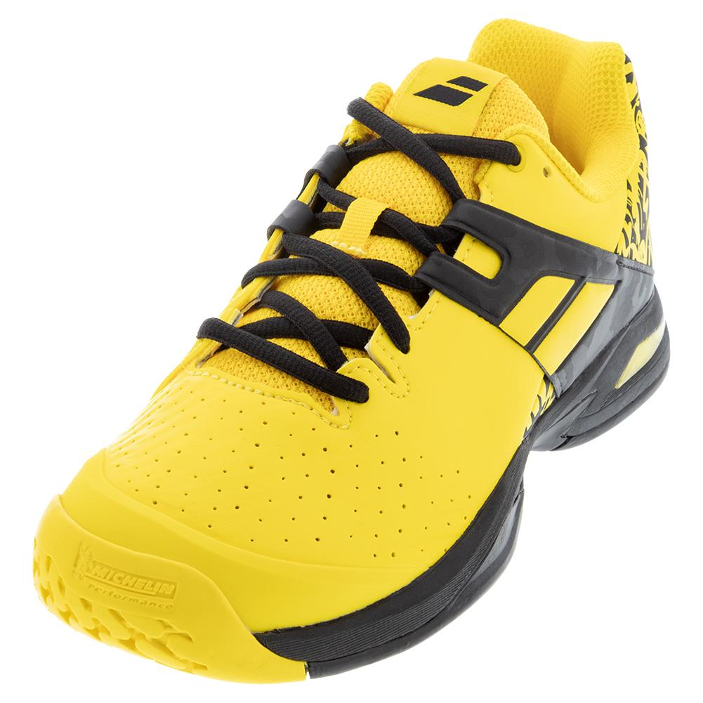 Juniors ` Propulse All Court Tennis Shoes Lemon Chrome