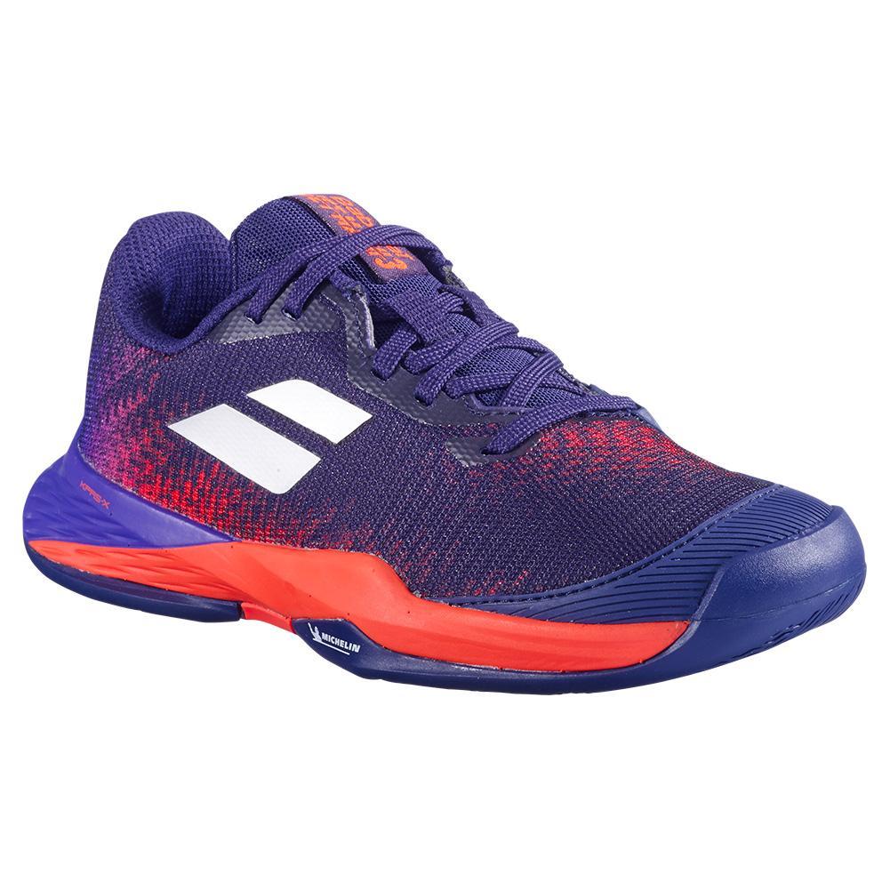 Juniors ` Jet Mach 3 All Court Tennis Shoes Blue Ribbon