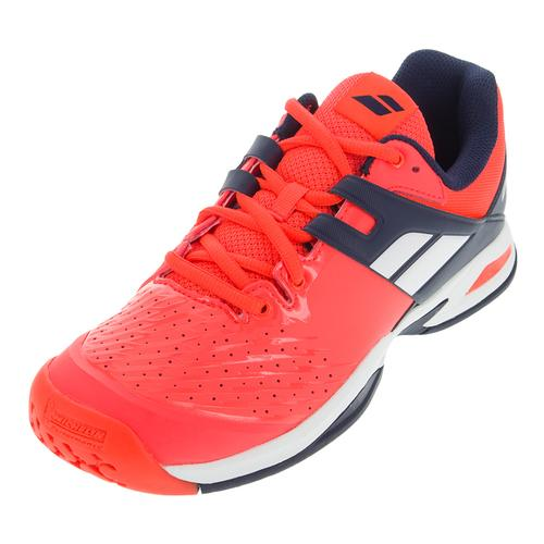 Juniors ` Propulse All Court Tennis Shoes Fluro Red