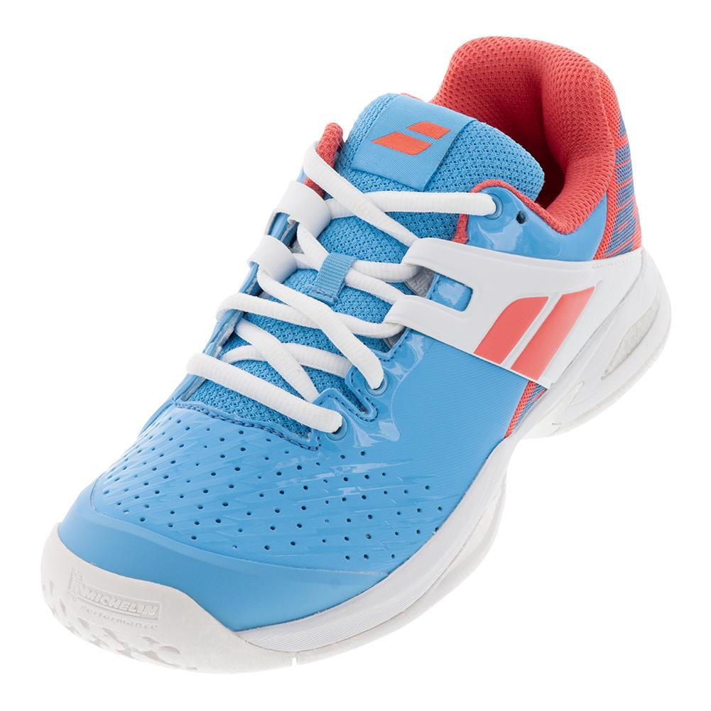 8a9b425d2d3d Juniors ` Propulse All Court Tennis Shoes Sky Blue And Pink