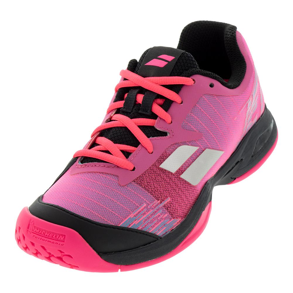 Juniors ` Jet All Court Tennis Shoes Pink And Black