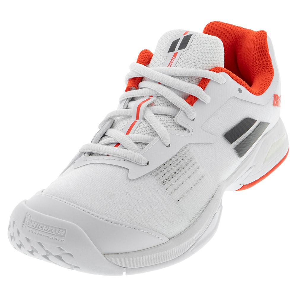 Juniors ` Jet All Court Tennis Shoes White