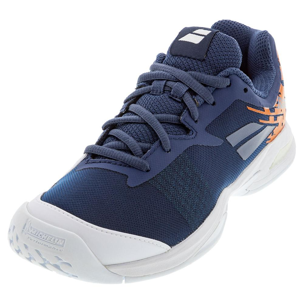 Juniors ` Jet All Court Tennis Shoes White And Pureed Pumpkin