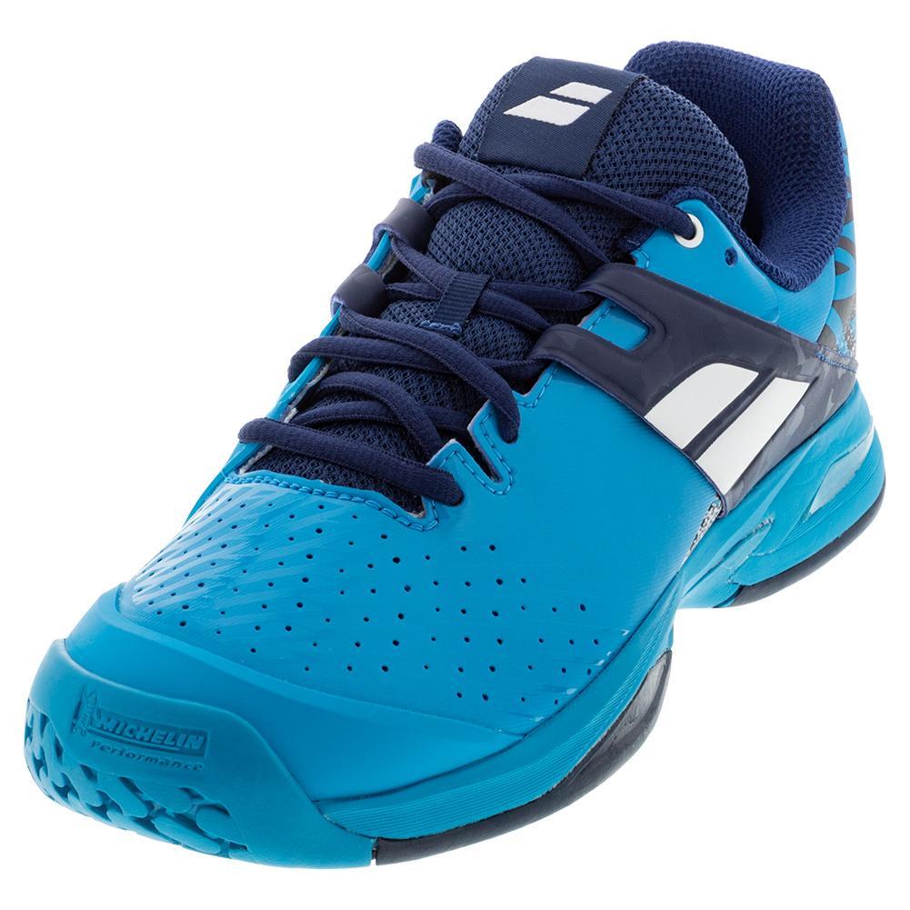 Juniors ` Propulse All Court Tennis Shoes Drive Blue