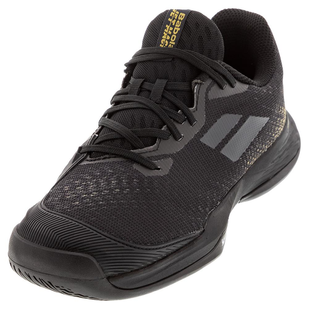 Juniors ` Jet Mach 3 All Court Tennis Shoes Black And Gold