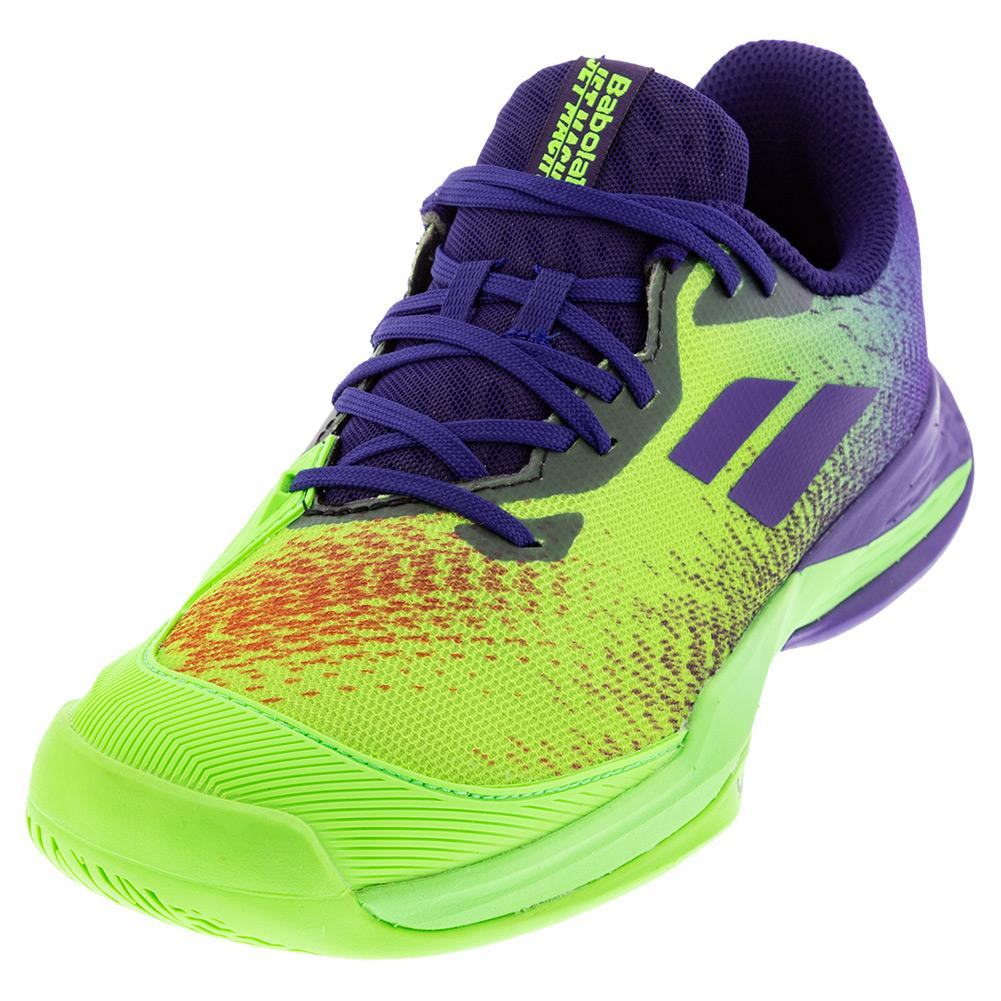 Juniors ` Jet Mach 3 All Court Tennis Shoes Jade Lime