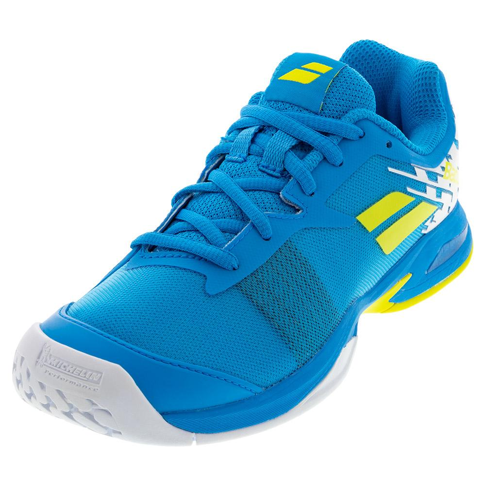 Juniors ` Jet All Court Tennis Shoes Malibu Blue