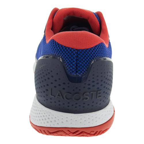 81775e937a4b81 Lacoste Men s LT Pro 117 Tennis Shoes Blue and Red