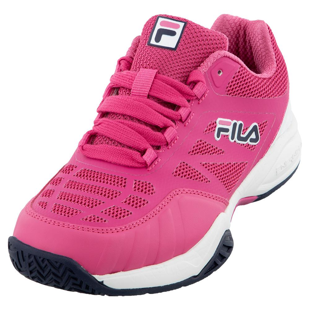 Juniors ` Axilus 2 Energized Tennis Shoes Shocking Pink And White